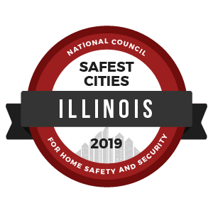 Safest Cities Illinois Logo