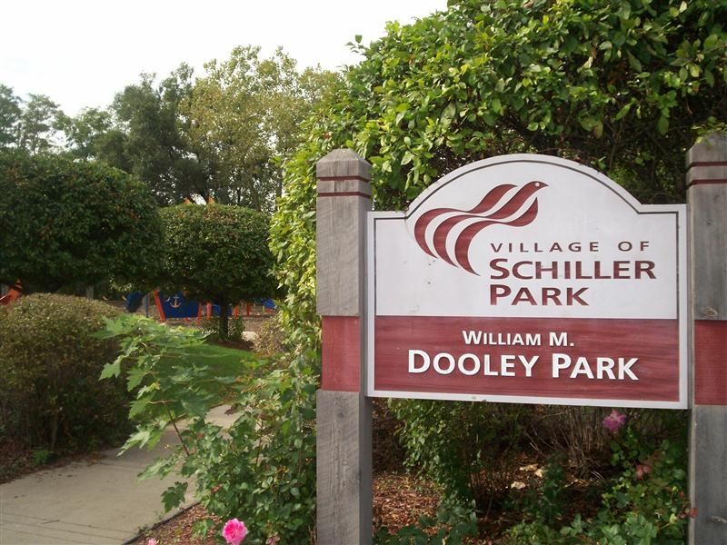 "A sign reading ""Dooley Park."""
