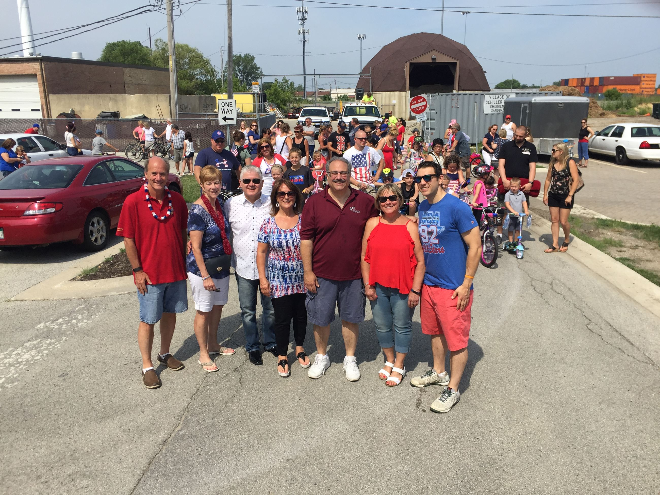 Village Board Photo at Parade-Picnic 2 - July 2017