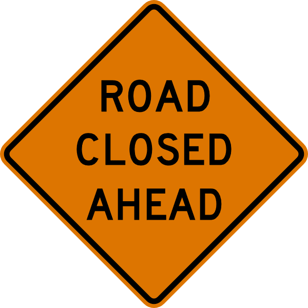 Road Closed Sign Image